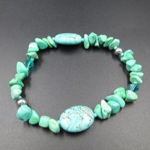 Genuine Stunning Blue/Green Stone Bracelet